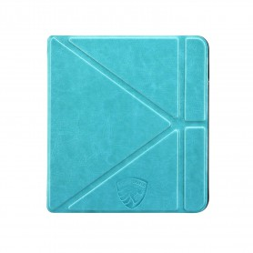 Origami Sleepcover Kobo Libra H2O Hoes Turquoise