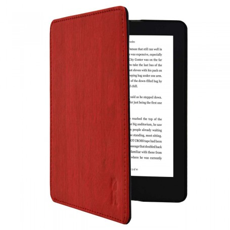 Kobo Aura H20 Edition 2 NEW Slimfit Cover Rood met houtpatroon