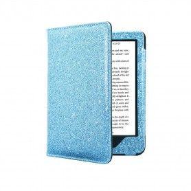 Premium Beschermhoes Kobo Nia Hoes / Sleep Cover Blauw Sparkle