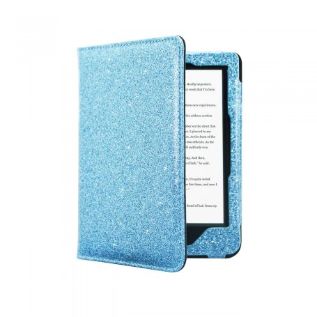 Premium Hoes Kobo Clara HD Blauw Sparkle