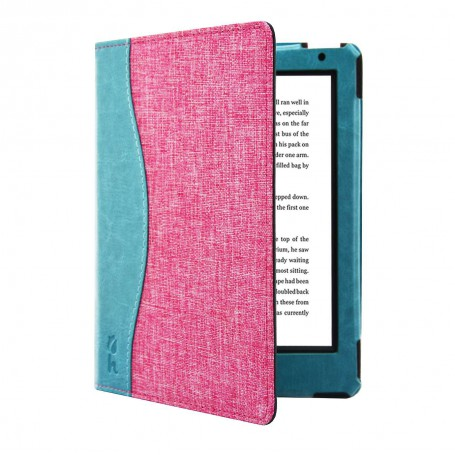 Kobo Aura H20 Edition 2 Jeans Style Cover Roze