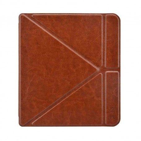 Origami Sleepcover Kobo Forma Hoes Cognac Bruin