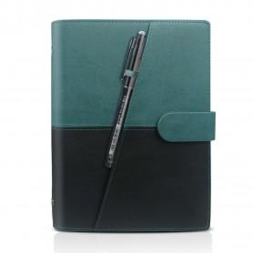 Luxe Portfolio Notitieboek / Schrift / Whiteboard Uitwisbaar,Herbruikbaar A5 Petroleum Groen - Zwart