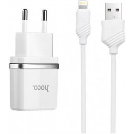 Hoco Premium C11 Lightning 1.0A lader adapter voor Apple iPhone -1M- wit