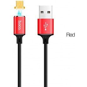 Hoco U28 Magnetische Micro usb kabel - 1M rood