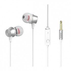 M51 HOCO Superior Sound koptelefoon met microfoon Metallic Zilver
